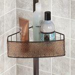 mDesign-Bathroom-Shower-Tension-Caddy-for-Shampoo-Conditioner-Soap-SandBronze-0-1