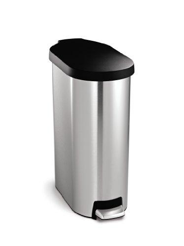 simplehuman-45-litre-slim-step-can-plastic-lid-stainless-steel-0