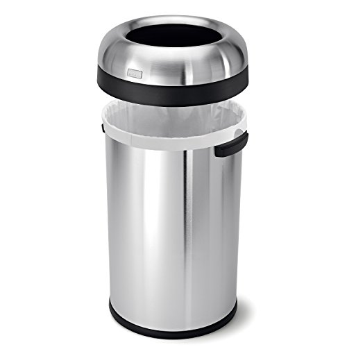 simplehuman-Bullet-Open-Trash-Can-Commercial-Grade-Heavy-Gauge-Stainless-Steel-80-L-211-Gal-0-0