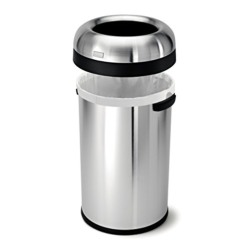 simplehuman-Bullet-Open-Trash-Can-Commercial-Grade-Heavy-Gauge-Stainless-Steel-80-L-211-Gal-0-1