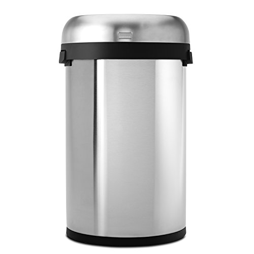 simplehuman-Bullet-Open-Trash-Can-Commercial-Grade-Stainless-Steel-60-L-159-Gal-0-1