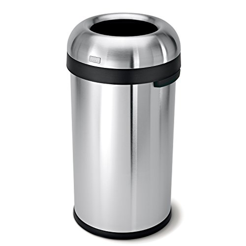 simplehuman-Bullet-Open-Trash-Can-Commercial-Grade-Stainless-Steel-60-L-159-Gal-0