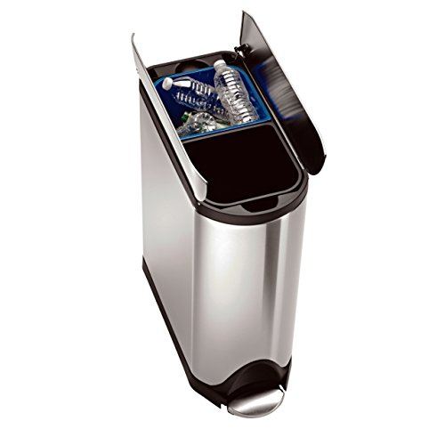 simplehuman-Butterfly-Step-Trash-Can-Recycler-Stainless-Steel-40-L-105-Gal-0-0