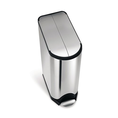 simplehuman-Butterfly-Step-Trash-Can-Recycler-Stainless-Steel-40-L-105-Gal-0