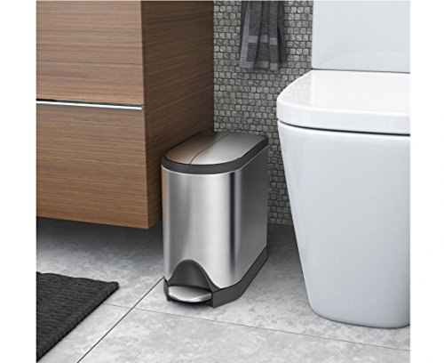 simplehuman-Butterfly-Step-Trash-Can-Stainless-Steel-10-L-26-Gal-0-0
