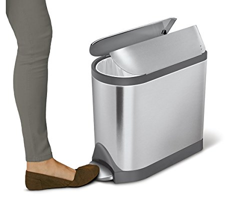 simplehuman-Butterfly-Step-Trash-Can-Stainless-Steel-10-L-26-Gal-0-1