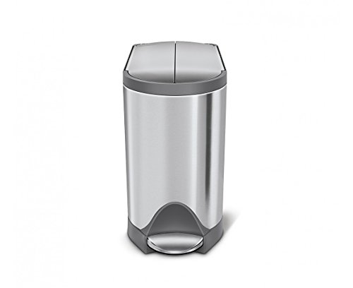 simplehuman-Butterfly-Step-Trash-Can-Stainless-Steel-10-L-26-Gal-0