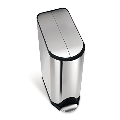simplehuman-Butterfly-Step-Trash-Can-Stainless-Steel-45-L-119-Gal-0