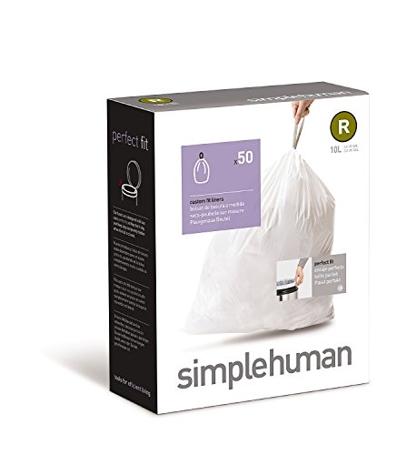 simplehuman-Code-R-Custom-Fit-Trash-Can-Liner-10-L-26-Gallon-50-Pack-0