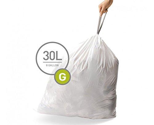 simplehuman-Custom-Fit-Trash-Can-Liner-G-30-L-8-Gal-50-Count-Box-0