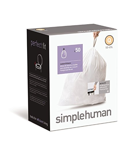 simplehuman-Custom-Fit-Trash-Can-Recycling-Liner-V-16-18-L-42-48-Gal-50-Count-Box-0