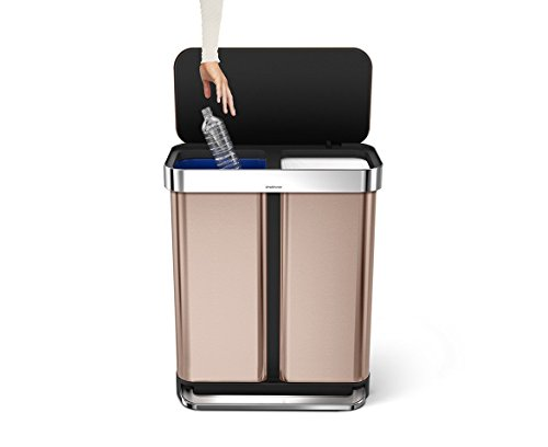 simplehuman-Liner-Rim-Dual-Bucket-Rectangular-Recycler-with-Liner-Pocket-0-0