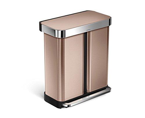 simplehuman-Liner-Rim-Dual-Bucket-Rectangular-Recycler-with-Liner-Pocket-0