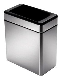 simplehuman-Profile-Open-Trash-Can-Stainless-Steel-10-L-26-Gal-0-0