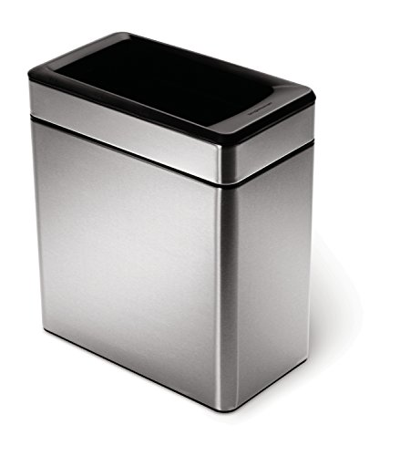 simplehuman-Profile-Open-Trash-Can-Stainless-Steel-10-L-26-Gal-0