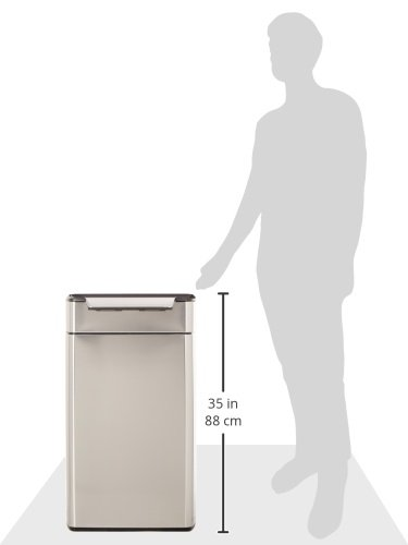simplehuman-Rectangular-Touch-Bar-Trash-Can-Fingerprint-Proof-Brushed-Stainless-Steel-0
