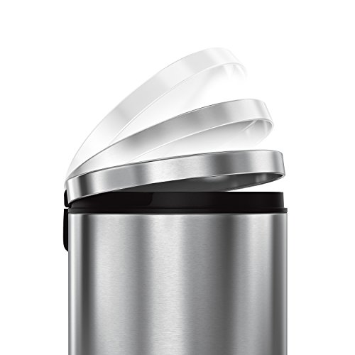 simplehuman-Round-Step-Trash-Can-Fingerprint-Proof-Brushed-Stainless-Steel-35-Liters-9-Gallons-0-1