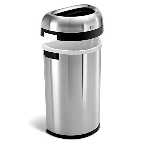 simplehuman-Semi-Round-Open-Trash-Can-Commercial-Grade-Stainless-Steel-60-L-16-Gal-0-0