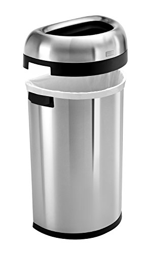 simplehuman-Semi-Round-Open-Trash-Can-Commercial-Grade-Stainless-Steel-60-L-16-Gal-0-1