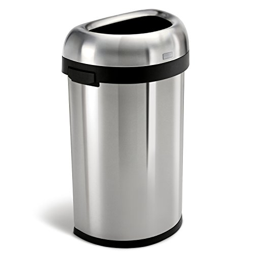 simplehuman-Semi-Round-Open-Trash-Can-Commercial-Grade-Stainless-Steel-60-L-16-Gal-0