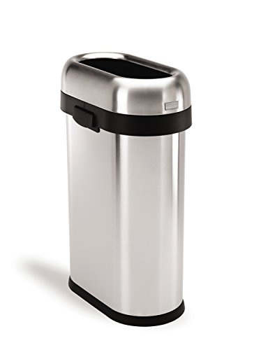 simplehuman-Slim-Open-Trash-Can-Commercial-Grade-Stainless-Steel-50-L-13-Gal-0
