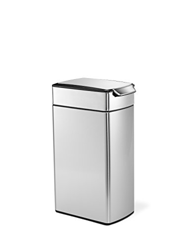 simplehuman-Slim-Rectangular-Touch-Bar-Trash-Can-Stainless-Steel-40-L-105-Gal-0-1