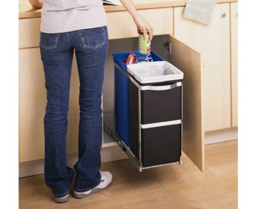 simplehuman-Under-Counter-Pull-Out-Recycler-Trash-Can-Commercial-Grade-35-L-9-Gal-total-capacity-20L-15L-5Gal-4-Gal-0-0