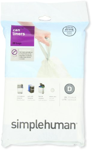 simplehuman-code-D-custom-fit-liners-3-refill-packs-20-liners-Code-D-20L-52-Gallon-White-0